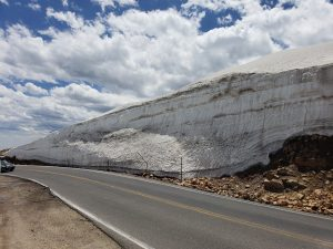 Snow Pack in the Beartooth Mountains
