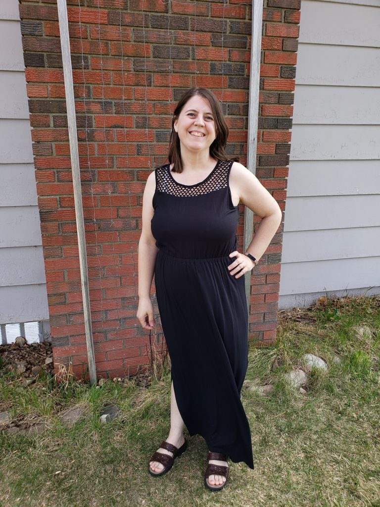 black maxi dress from Stitch Fix